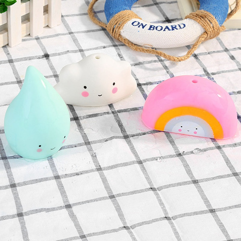 Bathroom Play Water child baby toy rainbow enlightenment early rain drops teaching toy Gift Cloudy Thunderstorm