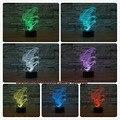3D Cambio de Color Kid Sleep hipocampo ilusión de Dibujos Animados Luz de La Noche Llevó La Lámpara Toque de Luz Fiesta de Cumpleaños Decoración Del Hogar Regalo Del Niño