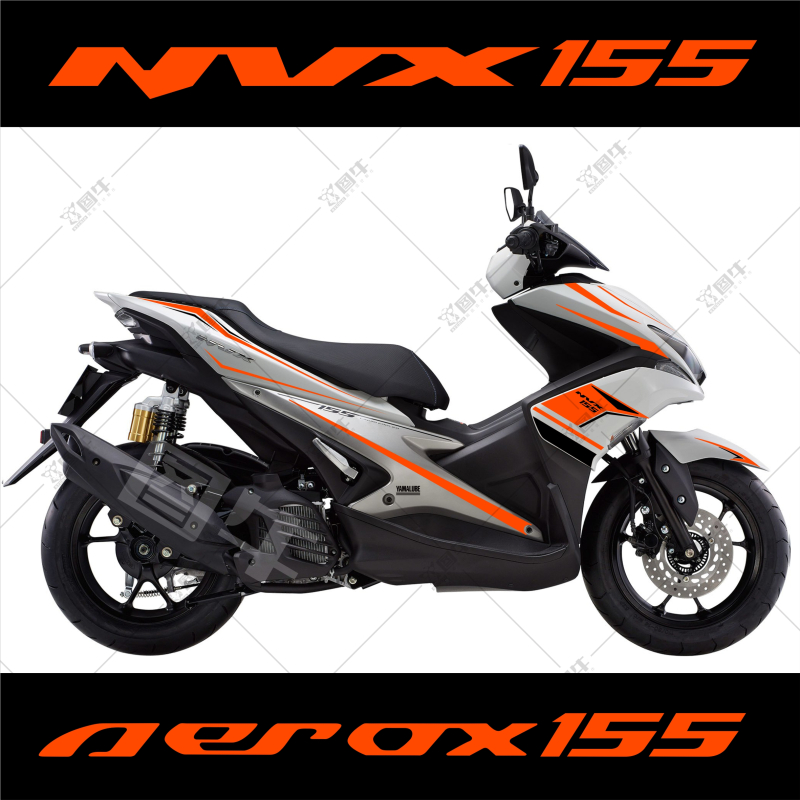 Image 3 - Motorcycle car Whole car flower pulling Body sticker For Yamaha NVX AEROX 155-in Decals & Stickers from Automobiles & Motorcycles