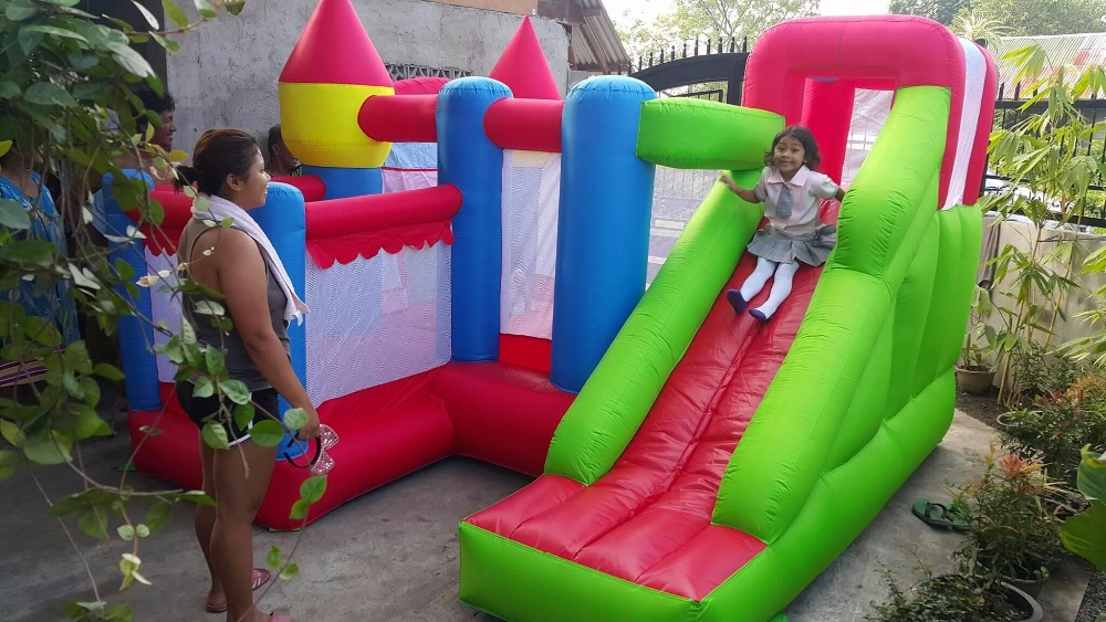 Residential Nylon Jumping Castle Inflatable Bouncy Castle Combo Bounce House Jumping Castle font b Bouncer b