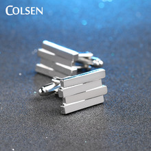 COLSEN new men's boys brand luxury French shirt cufflinks high-end party dress accessories designer jewelry wholesale hot bijoux