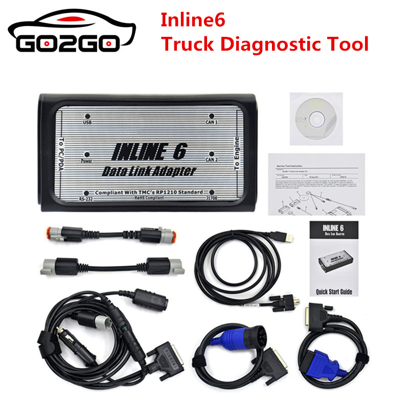 INLINE 6 Data Link Adapter Insite v7.62 Data Link Adaptor for Cummins OBD2 Truck Scanner Heavy Duty Diagnostic Tool-in Auto Key Programmers from Automobiles & Motorcycles