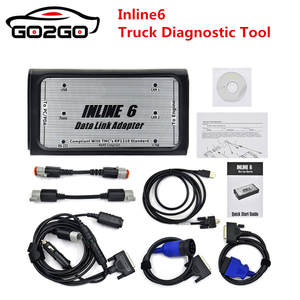 INLINE 6 Data Link Adapter Insite v7.62 Data Link Adaptor for OBD2 Truck Scanner