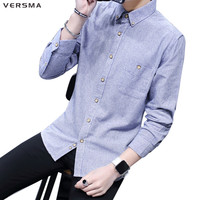 2017 Striped British Style Business Suit Mens High Quality Dress Shirts Slim Fit Cotton Tuxedo Shirt