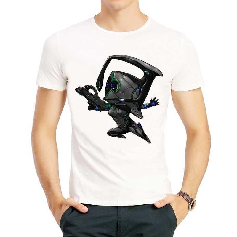 Футболка с рисунком Warframe, белая футболка с короткими рукавами, белая футболка с изображением героев мультфильмов, футболка с логотипом, футболки для мужчин и женщин