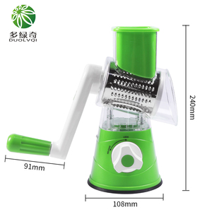 Image 3 - Manual Vegetable Cutter Slicer Kitchen Tool Multi functional Round Mandoline Slicer Potato Cheese
