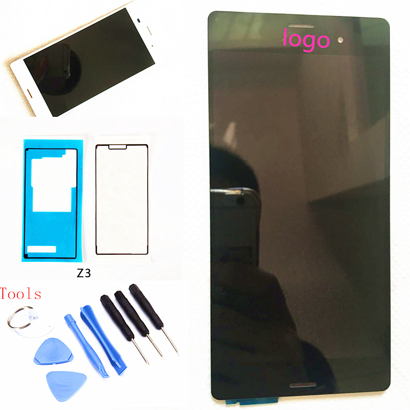 Black White For SONY Xperia Z3 Display Touch Screen Digitizer For SONY Xperia Z3 LCD Screen Dual D6603 D6633 D6653 D6616 D6683