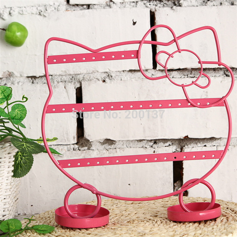 301e4bb22 Free Shipping Hello Kitty Shape Earrings Necklace Jewelry Display Metal  Stand Rack Holder Organizer Holder 1pcs/lot Display-in Jewelry Packaging &  Display ...