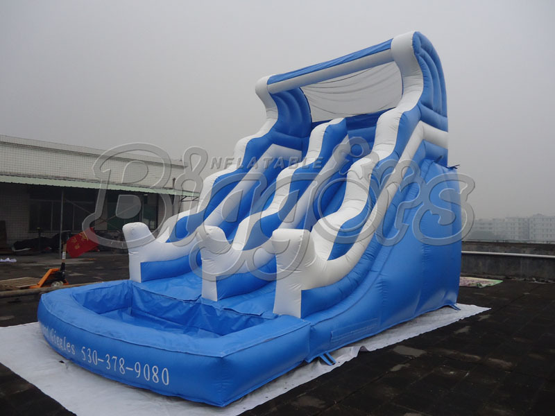 FREE SHIPPING BY SEA Double Lane Commercial Inflatable Water Slide Inflatable Jumping Slide With Pool 6 4 4m bounce house combo pool and slide used commercial bounce houses for sale