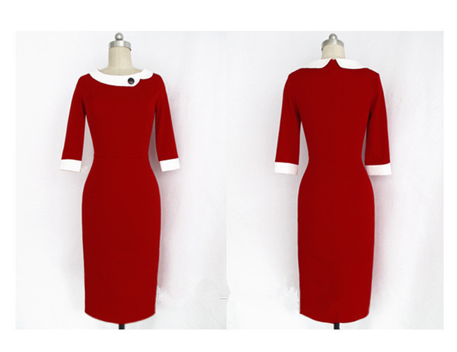 2018 Eu style star style woman dress turn-down Collar pencil dress sexy lovely clothes