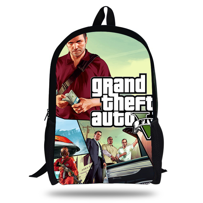 New POP Grand Theft Auto Game Printing SchoolBags For Girls Teenagers GTA Fight Bag Backpack Students Bookbag Hot Kids Mochilas