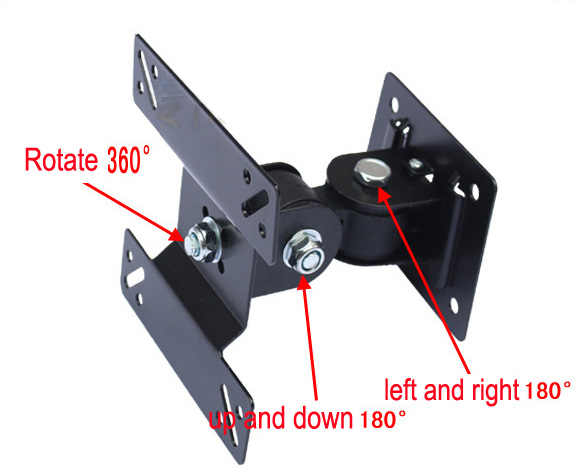 14-24 inch Full Motion LED LCD TV Wall Mount Monitor Holder Bracket