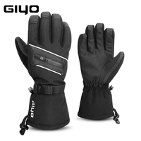 Winter Keep Warm Mountain Road Bike Full Finger Gloves Waterproof Touch Screen Bicycle Mittens Safety Night Cycling Gloves