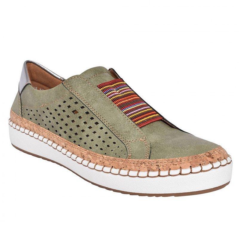 Экспресс-; женская обувь; повседневная обувь из вулканизированной кожи; кроссовки; женские удобные слипоны; лоферы на плоской подошве; zapatos mujer; Прямая поставка - Цвет: green