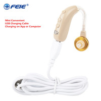 USB Cable Rechargeable Hearing Aid with European Plug Mini Convenience Wireless Hearing Aid for the Elderly Ear Care S 130