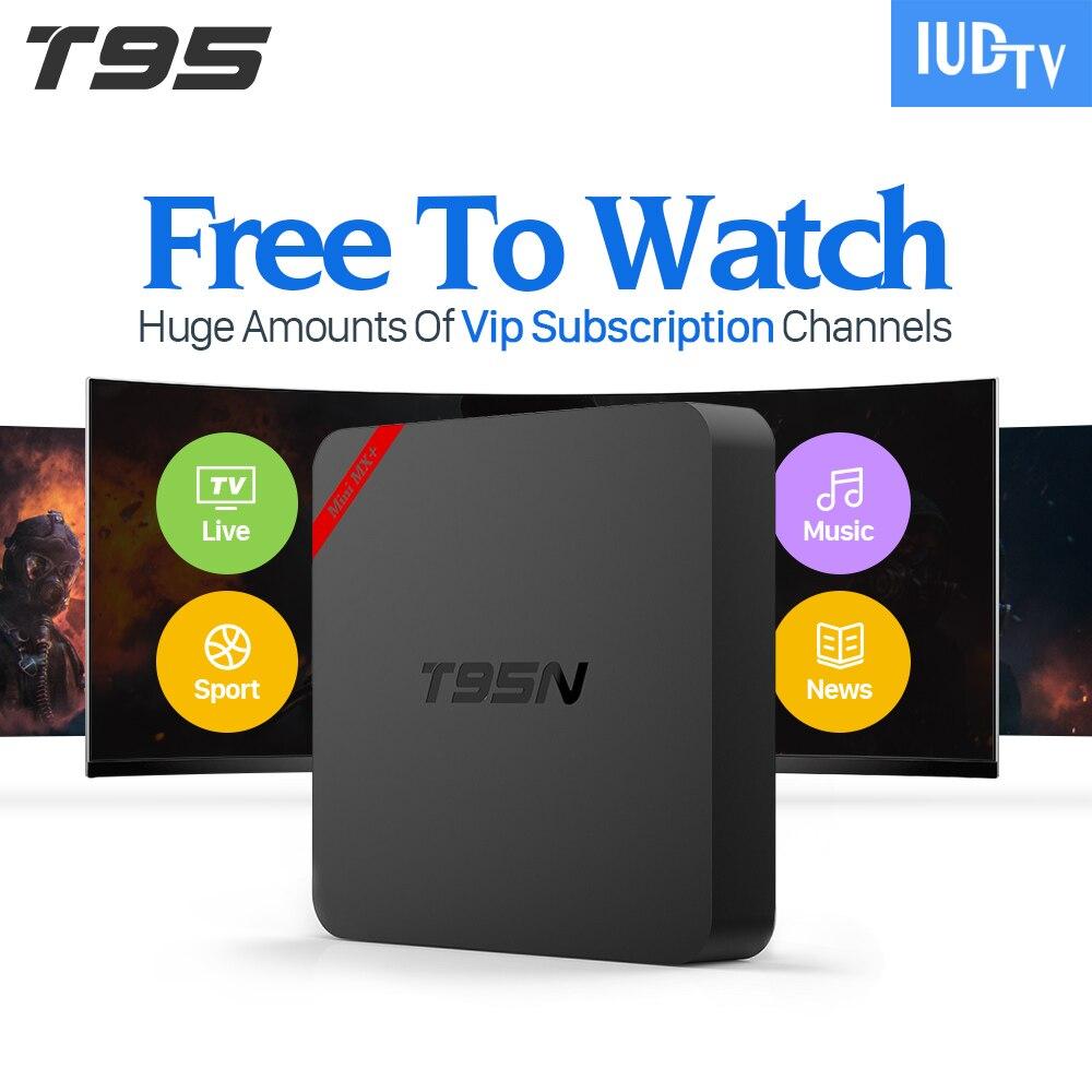T95N TV Box Android 6.0 Smart 4K Cortex A53 WiFi 8GB Set-top Box 1 Year IUDTV Account Swedish Turkish French Arabic IPTV Top Box  iptv unblock ubox 3 standard 8gb smart android tv box