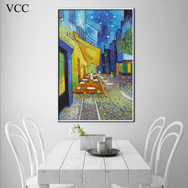VCC Wall Art Van gogh Open Air Cafes Replica Poster Canvas Painting