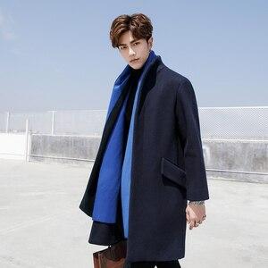 Woollen cloth stand-up collar