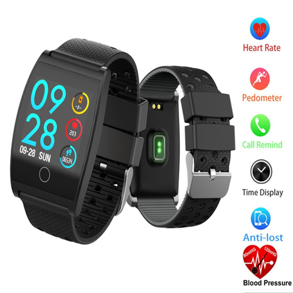 QS05 Smart GPS Wristband Watch Blood Pressure Oxygen Smart Band Customize Watch Heart Rate Monitor Fitness Bracelets A1