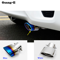 Car Styling Muffler End Black Pipe Dedicate Stainless Steel Exhaust Tip Tail Hoods 1pcs For Honda