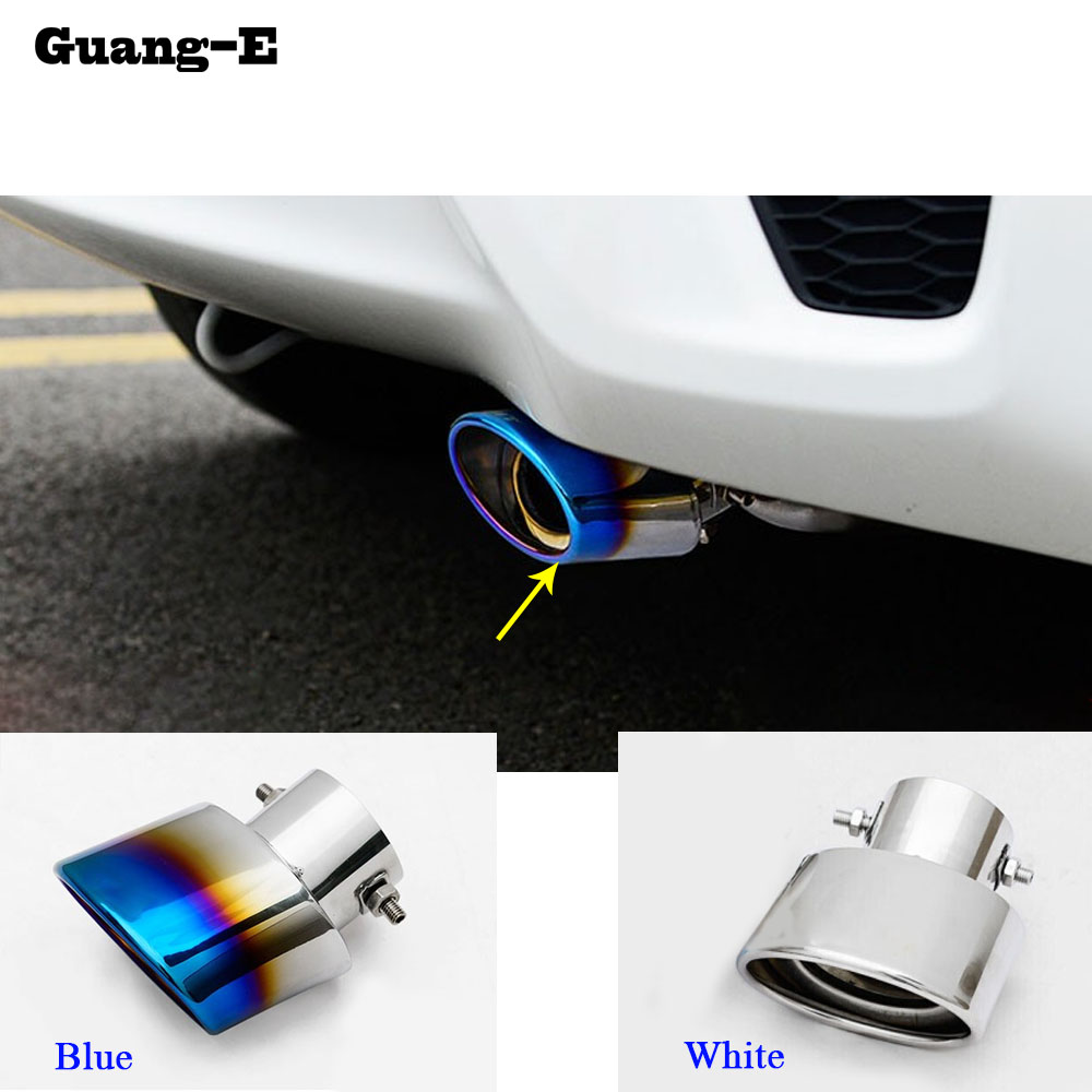 Stainless Steel tail end pipe exhaust muffler tip for Honda FIT JAZZ 2014 2015 A