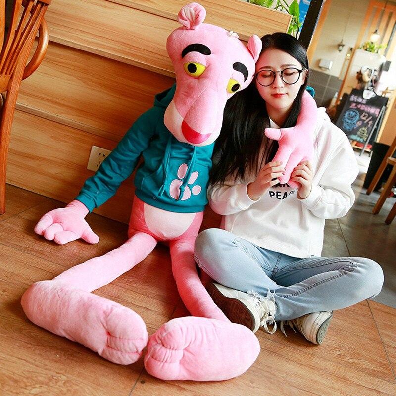 1 pc de alta qualidade tamanho grande brinquedos do bebê plaything bonito rosa impertinente pantera pelúcia boneca brinquedo decoração da sua casa 55/80/110 cm