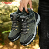 Men Safety Work Boots Winter Leather Lace Up Mens Military Shoes Outdoor Rubber Boots Casual Sneakers Breathable Zapatos Hombre