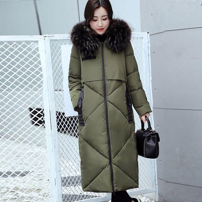 La De Fourrure Le Taille gray Plus Capuchon Femmes Col Overcoatx129 army Bas Femme Vers En Manteau 2017 Black Veste Coupe vent navy Allongé Coton À Green D'hiver Mode Nouvelle Épais P5awq7T