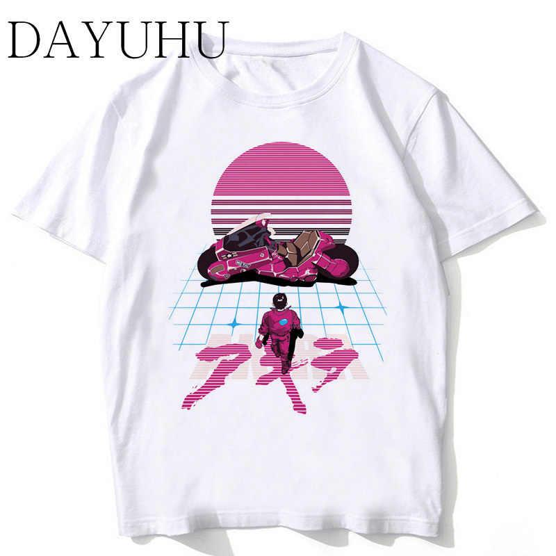 1990c4fe9fd3 Акира футболка Синтвейв Для мужчин 2018 новая футболка модные белые высокое  качество японского аниме футболка мужской