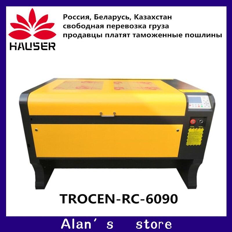 Free Shipping 6090 RECI W2 100w Co2 Laser Engraving Machine 600*900mm 110V/220V Cnc Laser Engraver DIY Laser Marking Machine