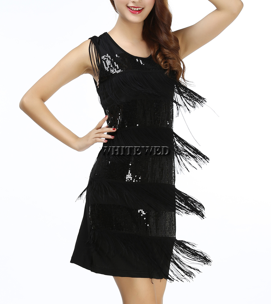 2015 New Tassel Fringe 1920s Fashion Flapper Inspired Cocktail Party ...