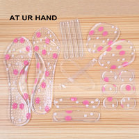 Rearfoot Invisible Silica Gel Stickers Transparent Slip Resistant Foot Shoes Stickers High Heel Shoe Pad Insoles