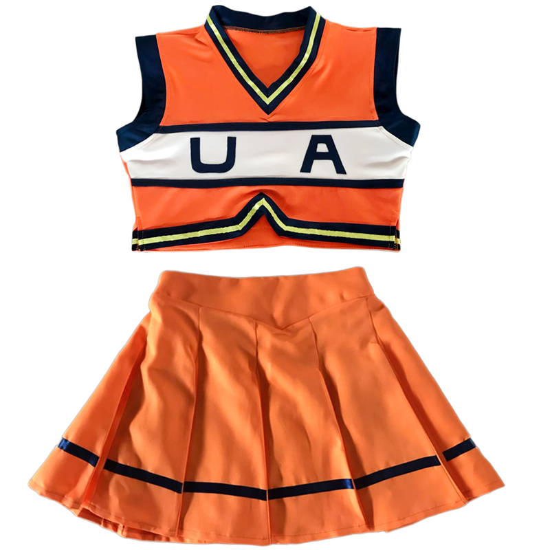 Boku no Hero Academia My Hero Academia Cheerleading Uniform Dress Clothing Games Cosplay Costume for Women Girl Dancing Costumes