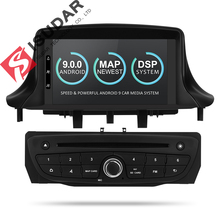 Isudar lettore Multimediale Dell'automobile di trasporto Due Din Android 9 Automotivo DVD Player Per Renault/Megane 3 Fluence Radio FM GSP 4 Core RAM 2G DSP