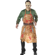 Scary Men Bloody Butcher Costume Halloween Carnival Adult Party Cosplay Clothing peavey butcher