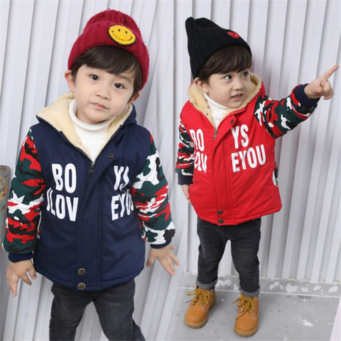 257 High quality 0-4 years winter boy jacket thicken woolen warm Hooded baby clothing kid children baby jacket outerwear coat Pakistan