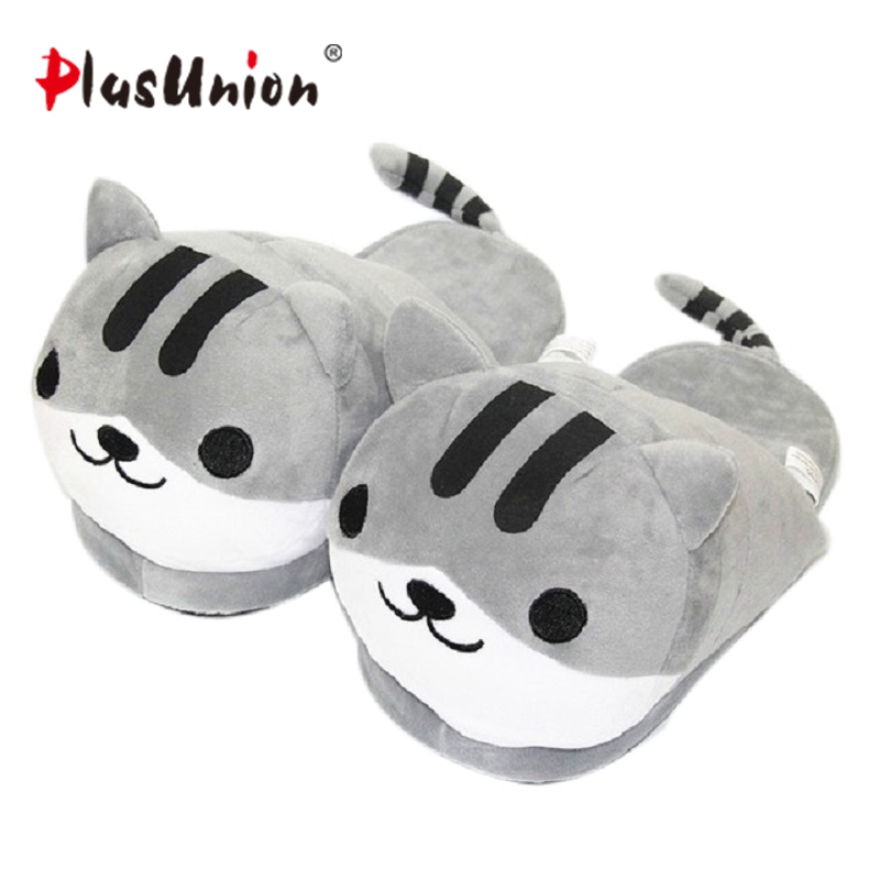 cat animal indoor slippers furry adult cartoon house home women tiger soft slipper men winter faux plush unisex emoji shoes hot adult warm cartoon cut slippers indoor winter animal flat furry fenty house women slipper with faux anime plush men shoes