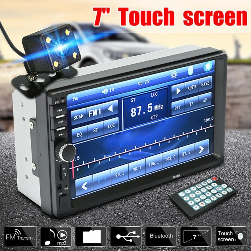7 ''2-Din écran tactile voiture MP5 lecteur Bluetooth stéréo FM Radio HD caméra arrière