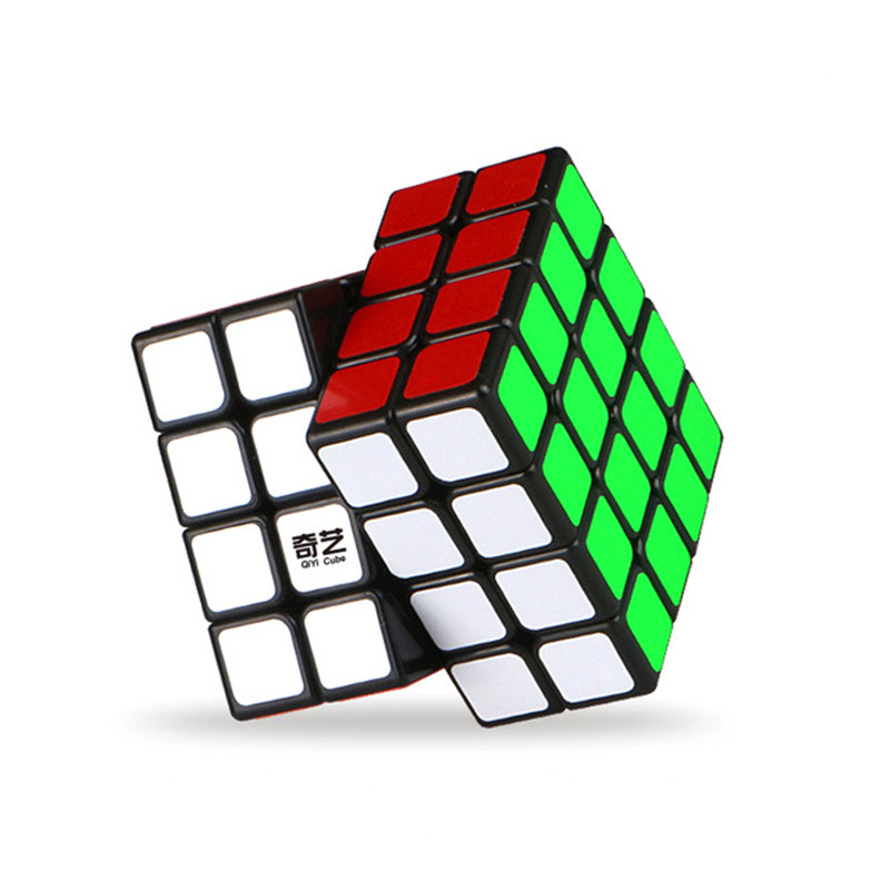 Magische Würfel Professionelle 4x4x4 6,2 CM Aufkleber Geschwindigkeit Twist Puzzle Spielzeug für Kinder Geschenk Magie Cube
