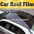 3 слоя глянцевый черный зеркальная пленка на крышу автомобиля с воздушным пузырьком для автомобиля Размеры: 1,35*15 м/рулон - фото
