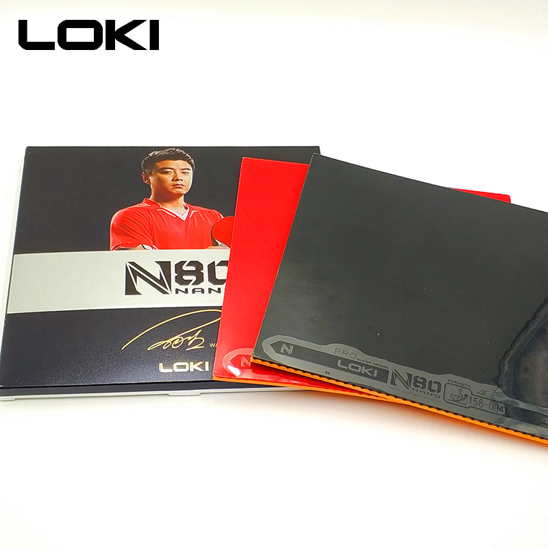 LOKI N80 High-density Yellow Sponge Table Tennis Rubber Pips In High Sticky Strong Spin Ping Pong Rubber for Loop and Control tibhar hybrid k1 k1 plus sticky rubber tension sponge forehand offensive pips in table tennis rubber ping pong sponge