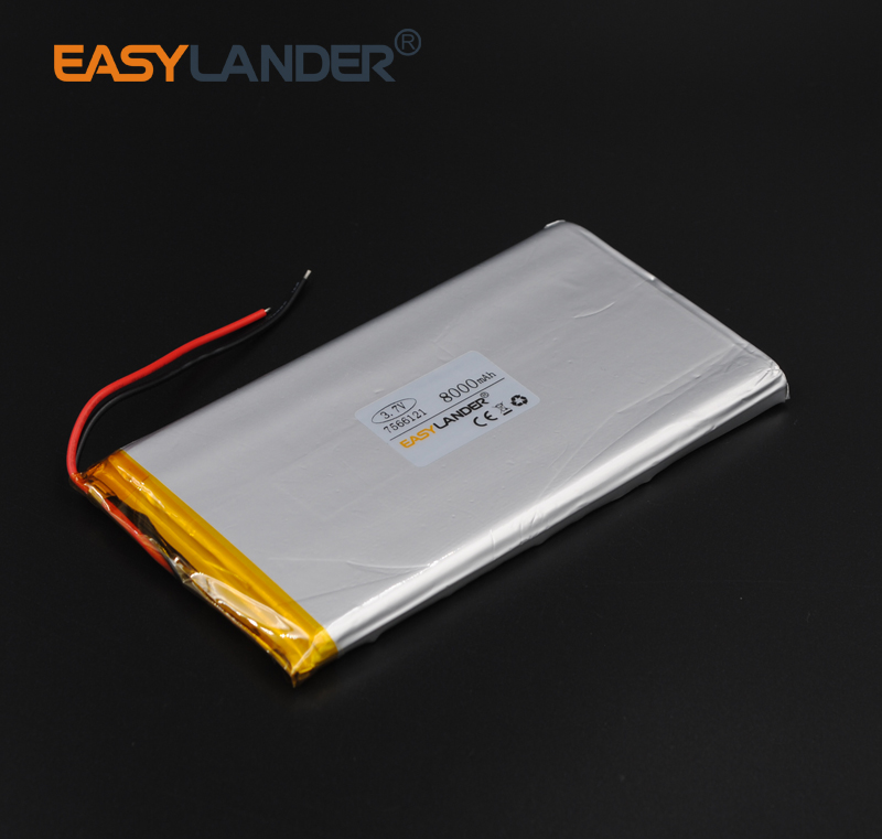 3.7V 8000mAh Rechargeable li Polymer Li-ion Battery For Tablet MID panel E-Book Power Bank Portable Consumer 7566121 lit jn 325 portable 8400mah li ion battery power bank for phone ipad samsung more 5v