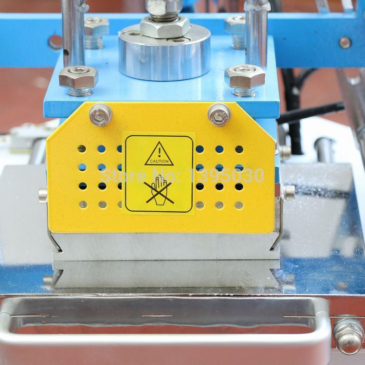 110 V automatyczna maszyna do tłoczenia skórzane LogoStamping maszyna do ciśnienia Stamper nazwa karty tłoczenia ekspres do