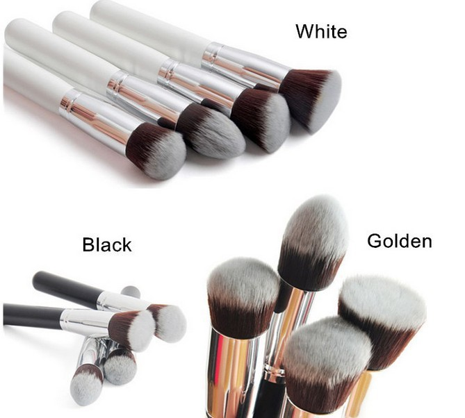 Super High Quality Pro Makeup Brushes Face Powder Foundation Brush Set 4 Pcs Cosmetic Free Shipping 4 pcs makeup brush 6 colors contour palette brush face powder cosmetic kit wholesale high quality