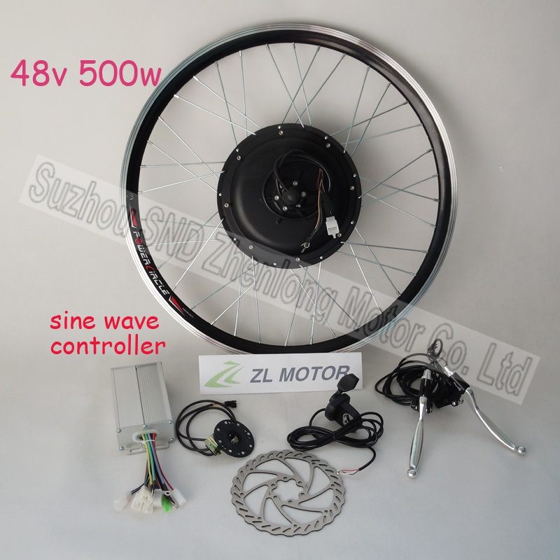 ZL MOTOR Bicycle conversion kit include hub motor 500w 48V brushless dc BLDC sine wave controller G-S024 - Suzhou SND Zhenlong Motor Co. Ltd store