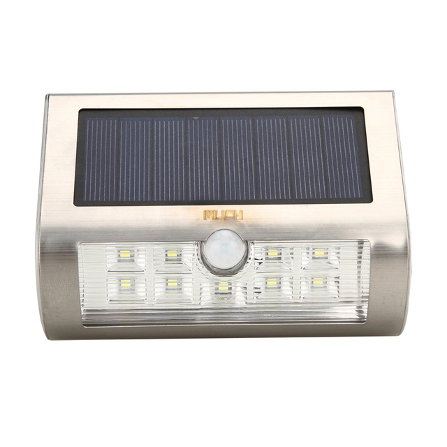 Pure White 6000-6500K 9 LED 120 Degree Motion Sensor Solar Powered Garden Security Wall Lamp Outdoor Night Light US Dropship