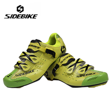цена на SIDEBIKE Professional Road Bike Racing Sports Self-Locking Shoes Men Women Cycling Shoes Bicycle Bike Breathable Athletic Shoes