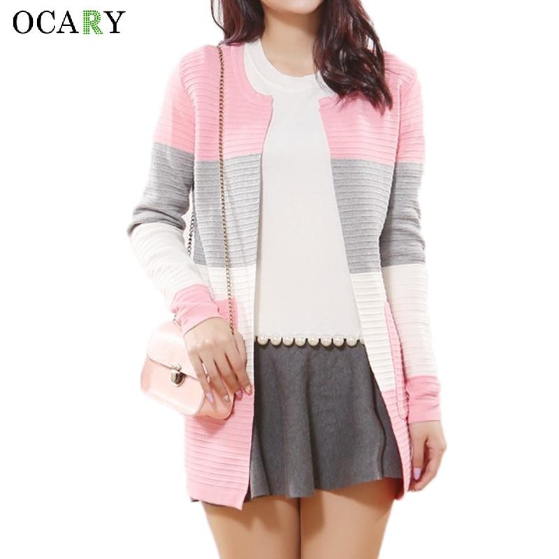 ᐊRayas mujeres suéter Primavera Verano Chaquetas moda delgada ...