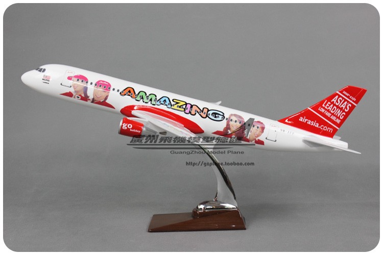 47cm Resin A320 Air Asia Airplane Model Beautiful Girl Lady Asian Airlines Airbus Air Asia A320 Airways Aircraft Model Aviation 47cm resin a320 air asia airplane model prince colorful painting airlines airbus air asia a320 200 airways aircraft plane model