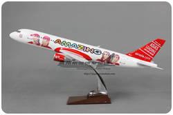 47 см смолы A320 Air Asia модель самолета красивая девушка леди Азиатский Airlines Airbus Air Asia A320 Airways модель самолета авиации